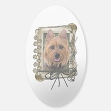 Fathers Day Stone Paws Aussie Terrier Decal
