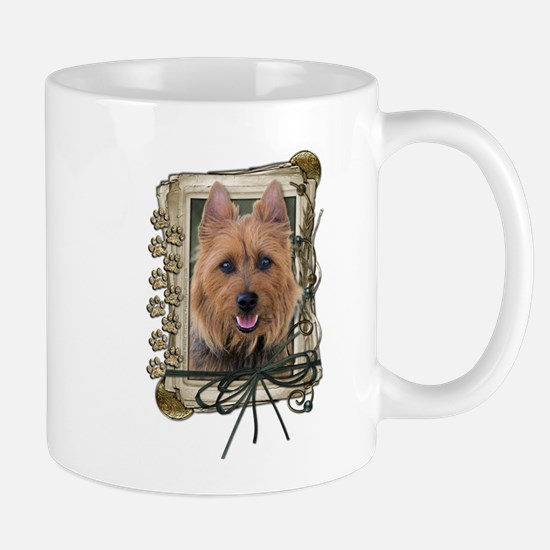Fathers Day Stone Paws Aussie Terrier Mug