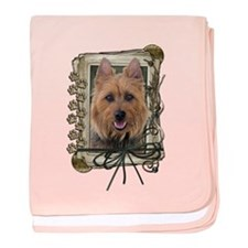 Fathers Day Stone Paws Aussie Terrier baby blanket