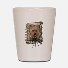 Fathers Day Stone Paws Aussie Terrier Shot Glass