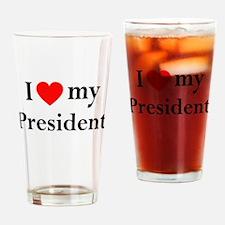 ObamaShops Drinking Glass