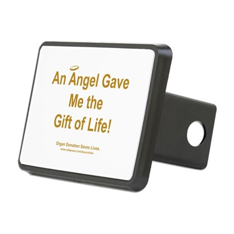 Gift of Life Angel Rectangular Hitch Cover