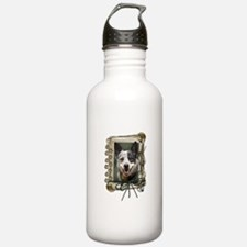 Fathers Day Stone Paws Cattle Dog Water Bottle