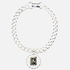 Fathers Day Stone Paws Cattle Dog Bracelet