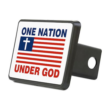 One Nation Under GOD Rectangular Hitch Coverle)