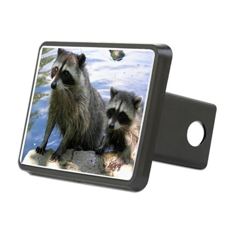 Racoon Buddies Rectangular Hitch Cover