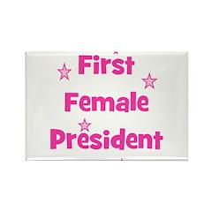 First Female President Rectangle Magnet