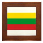 Lithuania Lithuanian Flag Framed Tile