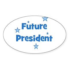 Future President - Blue Oval Decal