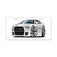 Charger SRT8 White Car Aluminum License Plate