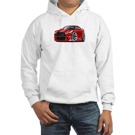 Charger SRT8 Red Car Hooded Sweatshirt