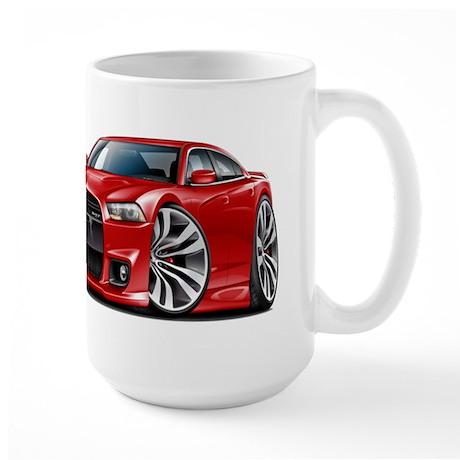 Charger SRT8 Red Car Large Mug