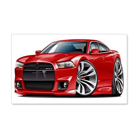 Charger SRT8 Red Car 22x14 Wall Peel