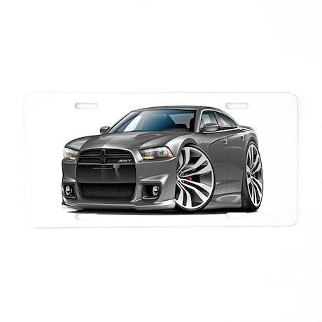 Charger SRT8 Grey Car Aluminum License Plate