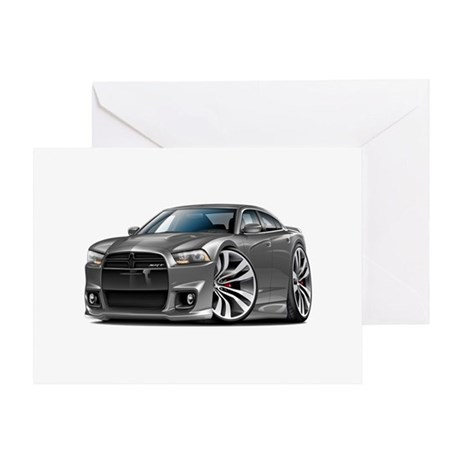 Charger SRT8 Grey Car Greeting Card