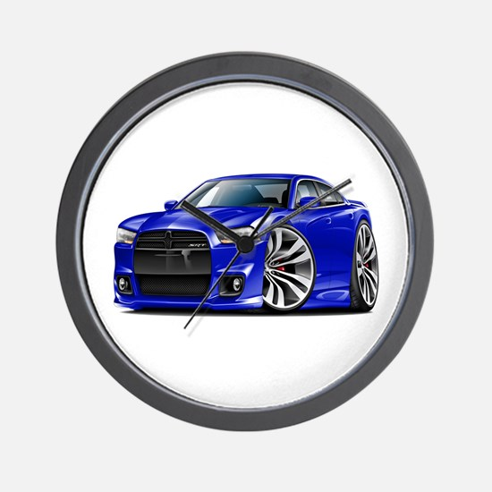 Charger SRT8 Blue Car Wall Clock