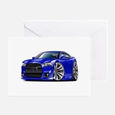 Charger SRT8 Blue Car Greeting Card