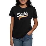 Style cursive white Women's Dark T-Shirt