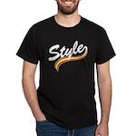 Style cursive white Dark T-Shirt