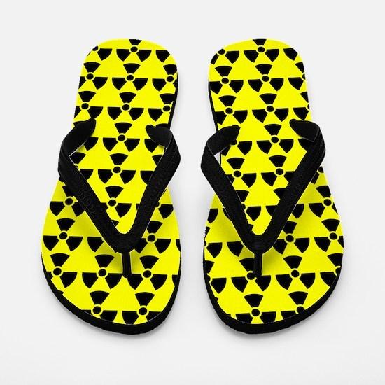 Radiation Warning Yellow FF Flip Flops
