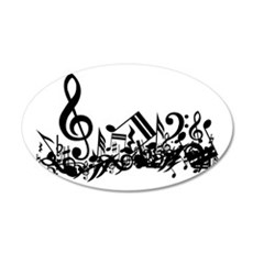 Black Musical Notes.png 38.5 x 24.5 Oval Wall Peel