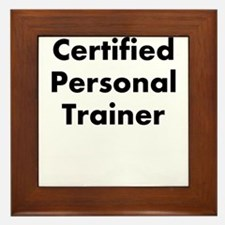 certified personal trainer Framed Tile