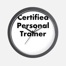 certified personal trainer Wall Clock