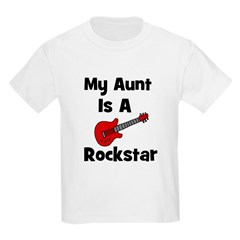 My Aunt Is A Rockstar Kids T-Shirt