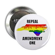"""Repeal Amendment One NC Pride 2.25"""" Button"""