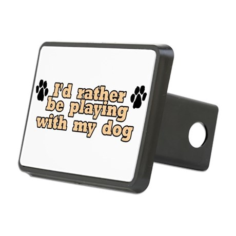 Playing W/ Dog Rectangular Hitch Cover