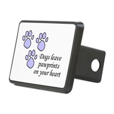 Blue dogs leave pawprints on your heart Rectangula