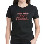 A Bull Terrier is my valentines Women's Dark T-Shi
