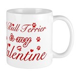 A Bull Terrier is my valentines Mug