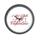 A Bull Terrier is my valentines Wall Clock
