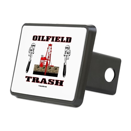 Oilfield Trash Rectangular Hitch Cover