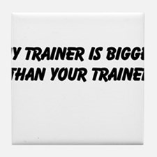 my trainer Tile Coaster