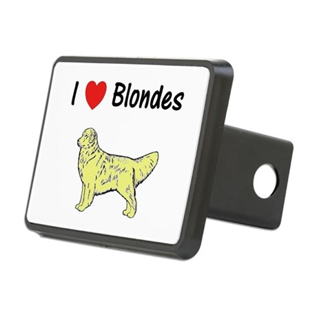 Love Blondes Rectangular Hitch Coverle)