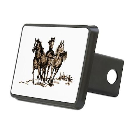 Horses Rectangular Hitch Coverle)