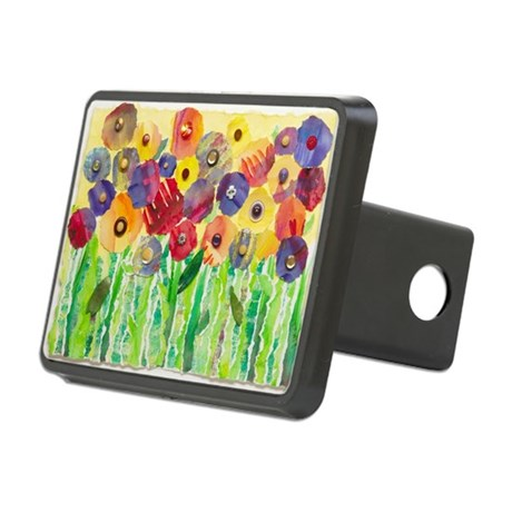 Melting Colors Garden Rectangular Hitch Coverle)