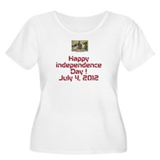 Happy independence Plus Size T-Shirt