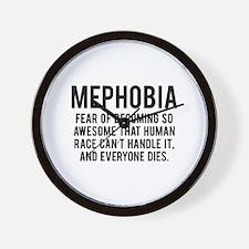 MEPHOBIA Wall Clock