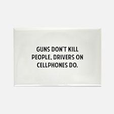 Guns don't kill people Rectangle Magnet