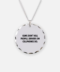 Guns don't kill people Necklace