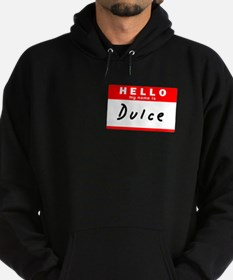 Dulce, Name Tag Sticker Hoodie