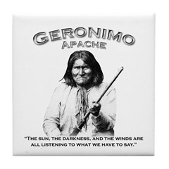 Geronimo 01 Tile Coaster