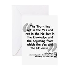 Barth Truth Quote Greeting Card