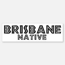 Brisbane Native Bumper Car Car Sticker