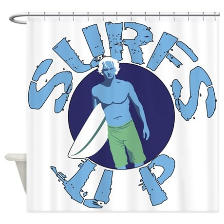 Surfs Up Surfing Shower Curtain