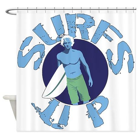 Surfs Up Surfing Shower Curtain