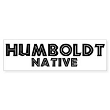 Humboldt Native Bumper Bumper Sticker
